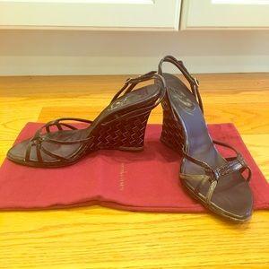 Bottega Veneta open toe wedge sandals